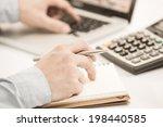 businessman analyzing... | Shutterstock . vector #198440585