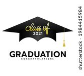 class of 2021 with graduation...   Shutterstock .eps vector #1984415984