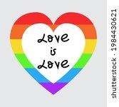 love is love in heart pride...   Shutterstock .eps vector #1984430621