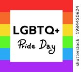lgbtq  with pride flag   lgbt...   Shutterstock .eps vector #1984430624