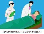 doctor checking patient's fever ... | Shutterstock .eps vector #1984459064