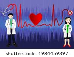 doctor and female doctor with... | Shutterstock .eps vector #1984459397