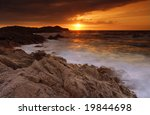 beautiful sunset over the sea... | Shutterstock . vector #19844698