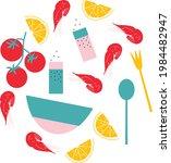 vector seafood illustration.... | Shutterstock .eps vector #1984482947