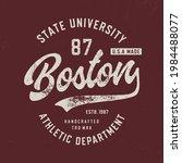 boston. athletic dept. original ...   Shutterstock .eps vector #1984488077