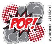 pop  wording in comic speech... | Shutterstock .eps vector #198453464