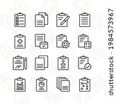 clipboard icon set. contains...