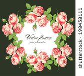 invitation with peony of the... | Shutterstock .eps vector #198458111