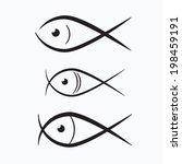 abstract vector fish... | Shutterstock .eps vector #198459191