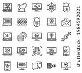cyber security icon set  ... | Shutterstock .eps vector #1984592021