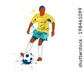 soccer player vector... | Shutterstock .eps vector #198461099
