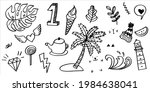 hand drawn set of curly swishes ... | Shutterstock .eps vector #1984638041
