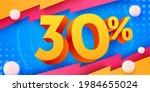 30 percent off. discount... | Shutterstock .eps vector #1984655024