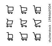set of shopping cart icons...
