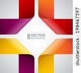 moebius origami colorful paper... | Shutterstock .eps vector #198467597