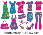 fashion | Shutterstock .eps vector #198469439