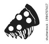 black silhouette of slice of... | Shutterstock .eps vector #1984707617