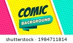 comic pop art panel background. ... | Shutterstock .eps vector #1984711814