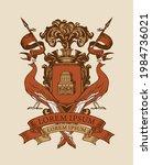 vector heraldic coat of arms...   Shutterstock .eps vector #1984736021