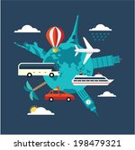 travel illustration | Shutterstock .eps vector #198479321
