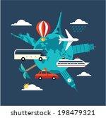 travel illustration | Shutterstock .eps vector #198479321