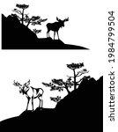 wild moose buck standing on... | Shutterstock .eps vector #1984799504