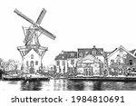 Medieval Adriaan Windmill In...