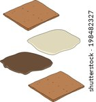 make your own smores cartoon on ... | Shutterstock .eps vector #198482327