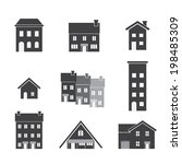 house icon set | Shutterstock .eps vector #198485309