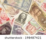 Stock photo a collection of various currencies from countries spanning the globe 198487421