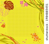unusual scarf floral print.... | Shutterstock .eps vector #1984885451