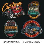 custom cars vintage colorful... | Shutterstock .eps vector #1984892507