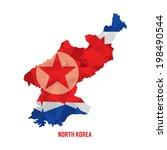 map of north korea vector... | Shutterstock .eps vector #198490544