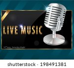 live music  karaoke party... | Shutterstock .eps vector #198491381