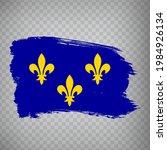 flag of ile de france  brush...