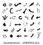vector set of hand drawn arrows ...   Shutterstock .eps vector #1984941161