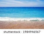 Sea Pebble Beach Against The...