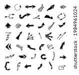 vector set of hand drawn arrows ...   Shutterstock .eps vector #1984961024