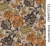 shabby modern sketch floral...   Shutterstock .eps vector #1984972721