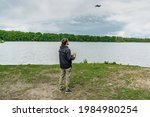 Man Playing With Drone For Exam....