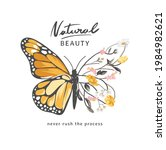natural beauty slogan with... | Shutterstock .eps vector #1984982621