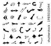 vector set of hand drawn arrows ...   Shutterstock .eps vector #1985010344