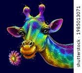 giraffe. abstract  colorful ... | Shutterstock .eps vector #1985013071