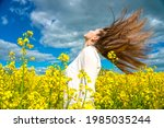 pretty young woman in the... | Shutterstock . vector #1985035244