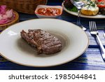 grilled beef steaks with spices ...   Shutterstock . vector #1985044841