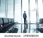 Business Man At Airport With...