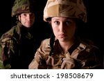 male and female soldiers | Shutterstock . vector #198508679