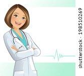 female doctor | Shutterstock .eps vector #198510269