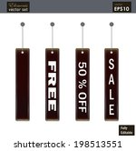 a set of sale tags in vector... | Shutterstock .eps vector #198513551