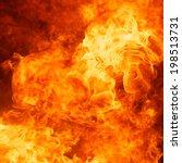 blaze fire flame texture...   Shutterstock . vector #198513731